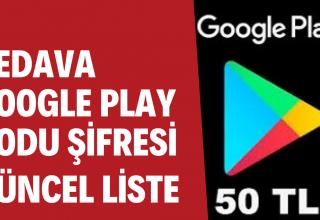 Bedava 50 TL Google Play Hediye Kartı